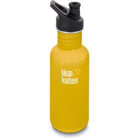 Klean Kanteen Classic Gourde Bouchon sport 532ml, lemon curry matt